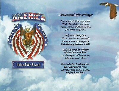 CORRECTIONAL OFFICER Poem Personalized Name Print Prayer