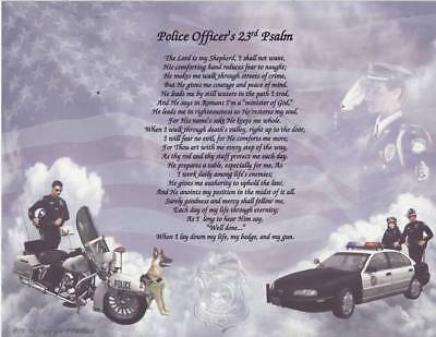 Police Poem Blood Upon Shield Personalized Print Name
