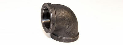 """3/4"""" Black Malleable Iron Elbow 90 PIPE THREAD FITTING"""