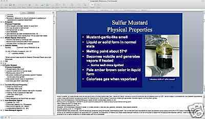 CHEMICAL AGENT PROPERTIES & RESPONSE Presentation CD