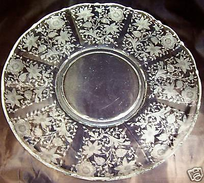 "CAMBRIDGE WILDFLOWER #3900/166 14"" DIAMETER SERVICE or TORTE PLATE!"