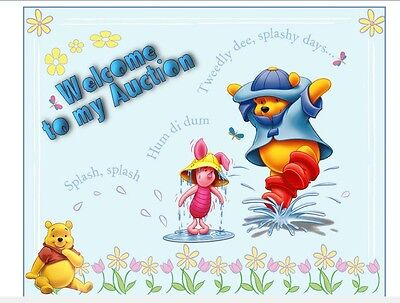 WINNIE THE POOH auction template POOH BEAR baby kids