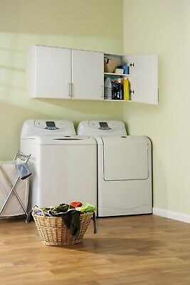 """54"""" Wide Laundry Garage Wall Mount Storage Cabinet NEW"""