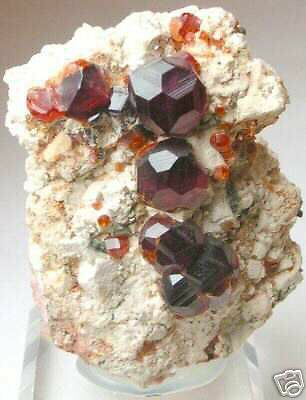 ORANGE Natural Uncut Raw ROUGH GARNET IN MATRIX