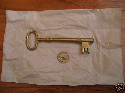 Vintage Solid Brass Skeleton Key