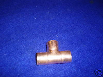 "1/2"" Copper Tee (10Pcs) Copper Sweat Tee Fits 5/8"" Od Copper Pipes"