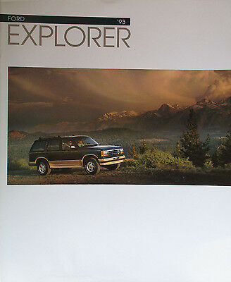Great Condition 1993 FORD EXPLORER BROCHURE 93