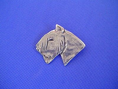 Bouvier des Flandres pin ABSTRACT #43J Pewter Dog Jewelry by Cindy A. Conter