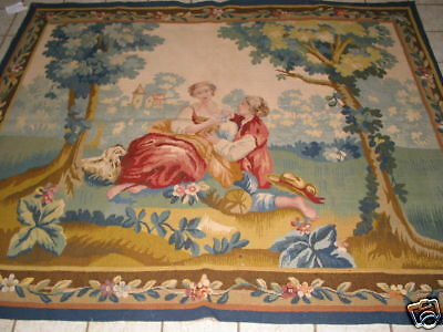 Antique French Aubusson Hand Made Tapestry B-7218