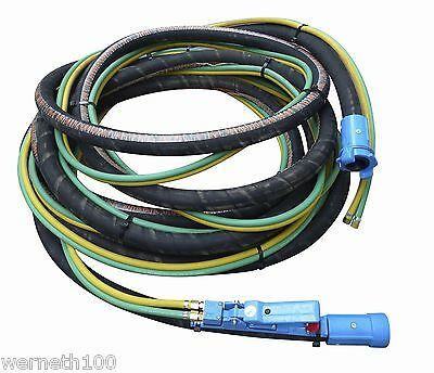 SHOT SAND BLAST HOSE  : 10mtrs COMPLETE, READY TO USE  will fit Clemco