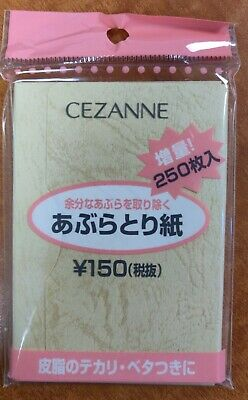10 Packs Of BRAND NEW JAPANESE OIL BLOTTING SHEETS (250) Each