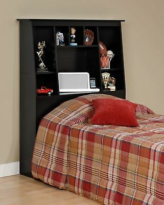 Sonoma Tall Twin Size Bookcase Bed Headboard BLACK NEW