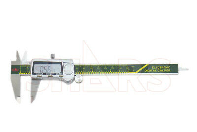 "SHARS 6"" 150mm Electronic Digital Caliper Stainless .0005"" FRACTION 1/128 New"