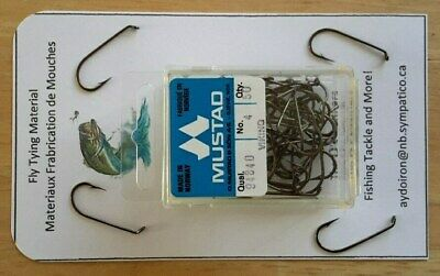 Mustad Dry Fly Tying Hooks 80000BR Size 10
