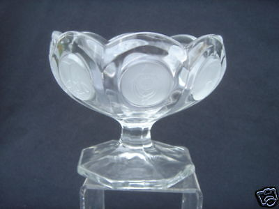 Avon 91st anv. Glass Fostoria foted Jelly small compote