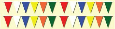 """MULTICOLORED 25 UNIT CARTON 12""""x18"""" PENNANT STREAMERS STRINGS"""