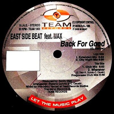 """12"""" - East Side Beat - Back For Good (ITALO) NUEVO - NEW, STOCK STORE"""