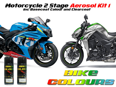 Motorcycle Aerosol Paint Kit 1 All Makes For Straight & Metallic Colours
