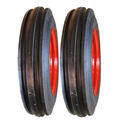 Two 4.00-12 Farmall Tractor Pulling Front Tires & Wheels Rims