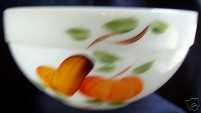 "Fire King Gay Fad Fruits Colonial 8-3/4"" Mixing Bowl!"