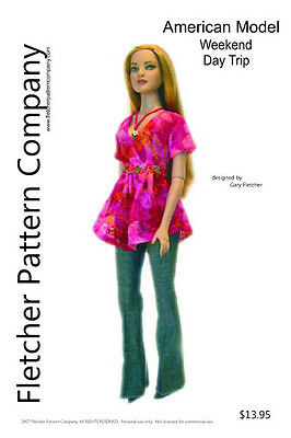 Day Trip Doll Clothes Sewing Pattern for American Model Tonner