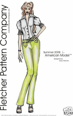 Summer Doll Clothes Sewing Pattern for American Model Tonner