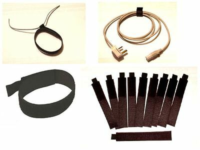 10 x HOOK AND LOOP CABLE TIES - CABLE TIDY - LIKE VELCRO - 150mm x 25mm wide