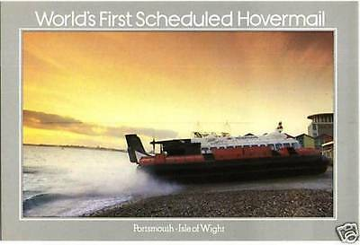 (60128) Postcard: Hovercraft - World's 1st Hovermail