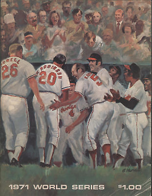 1971 Orioles vs Pirates WORLD SERIES Program, O's Issue