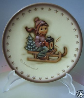 "M.i.hummel ""ride Into Christmas Mini Plate"" Hum 975 Mib"