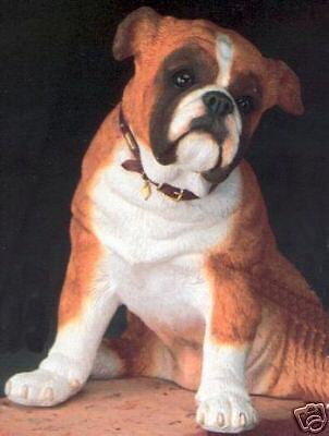 COUNTRY ARTISTS ADORABLE BULLDOG SITTING, PLS LOOK
