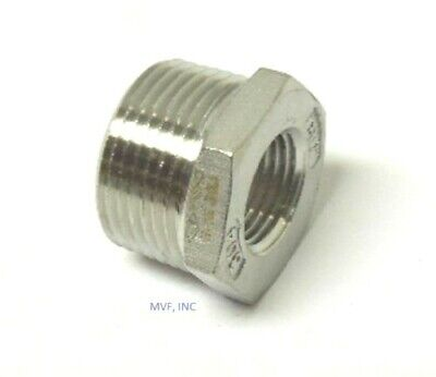 "1/2"" X 1/4"" 150# Cast Threaded (NPT) Hex Bushing 304 Stainless Steel  SS12040241"