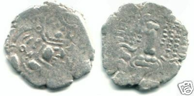 Anonymous AR drachm, Pratihara-Pala 780-980 AD, N.India