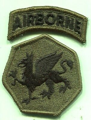 Vietnam Era US Army 108th Airborne Subdued Patch W/Tab