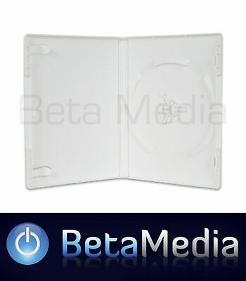 5 x Single White 14mm Quality CD / DVD Cover Cases - Great Wii Replacement