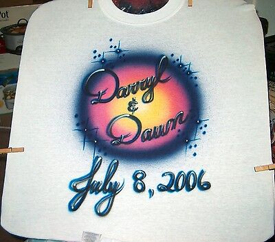 3cd302e3 AIRBRUSHED PERSONALIZED SCRIPT Name T-Shirt Sizes 2T - 3XL - $12.95 ...