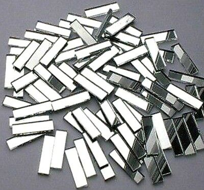 100  Mosaic MIRROR border tiles 25mm x 6mm  HIGHLIGHTS