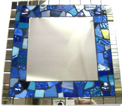 BLUE Deluxe Mosaic Mirror Kit Everything u need NEW