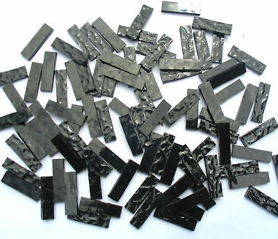 100 BLACK Mosaic Border Tiles 25mm x 6mm Arts & Crafts