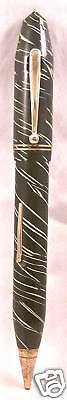 Combo Pen-Pencil  Black-Green Barber Pole Sytle works
