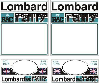 1976 Lombard Rally Plate Decal Set