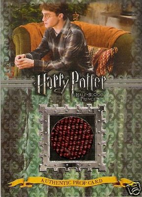 Harry Potter Half Blood Prince Cushions Prop Card P3 Thick Variant 454/480