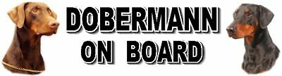 DOBERMANN ON BOARD Car Sticker By Starprint