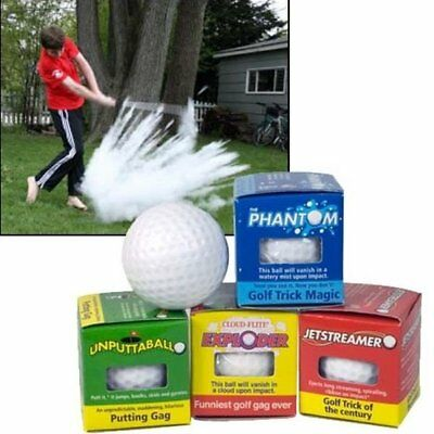 48 ASSORTED TRICK GOLF BALLS - gag golfing joke prank