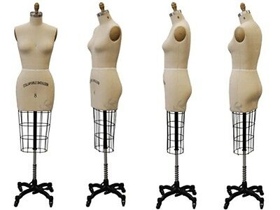 Professional Female Working dress form, Mannequin Half body Size 10, w/Hip