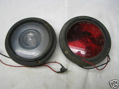 Pair of Vintage NAPA 546 TAIL  Lamps w/Rubber housing