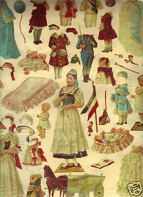 REPRODUCTION 1880's PAPER DOLLS-MUSEUM COLLECTION