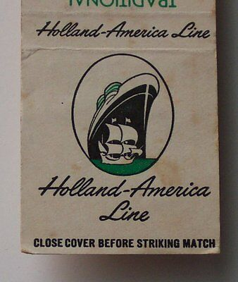 1950s Matchbook Holland-America Line Cruises Rotterdam