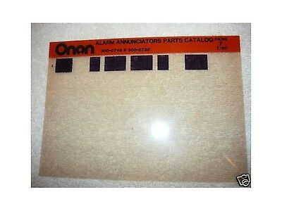 Onan Alarm Annuciators 300-0749 300-0750 Parts Manual M