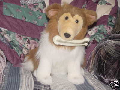Collie With Bone Plush Dog Barks & Shakes From 2000